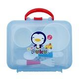 PUKU Tableware Set with Casing [P14405] 5 Pcs - Perlengkapan Makan dan Minum Bayi